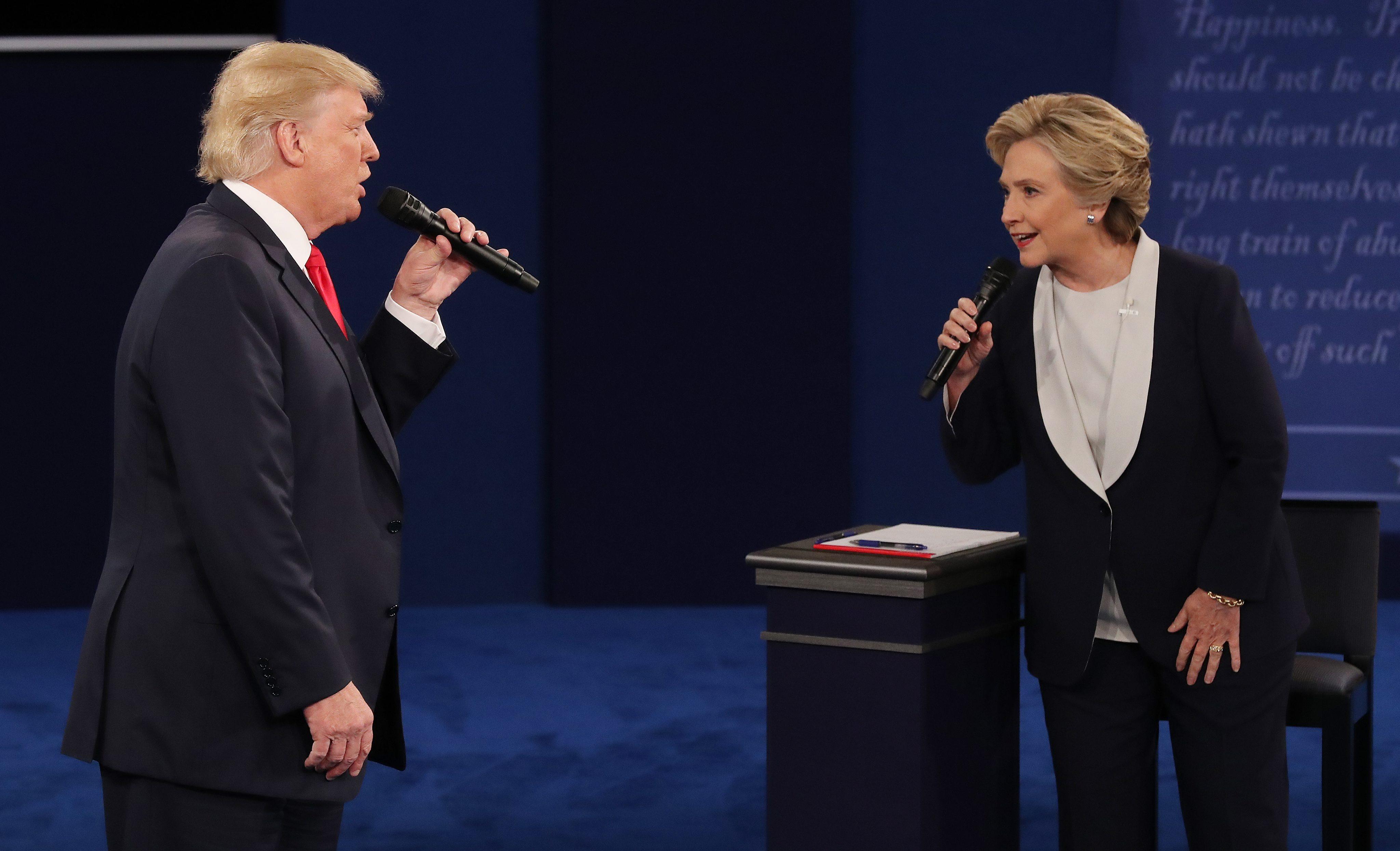 Las mejores frases del segundo debate presidencial en EE.UU.