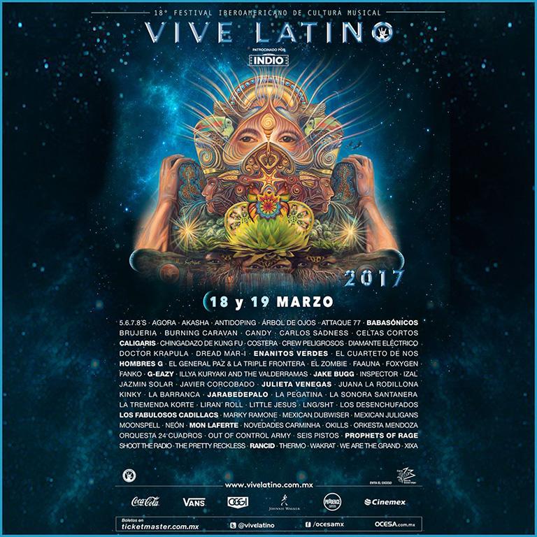 Se presenta el cartel oficial del Vive Latino 2017