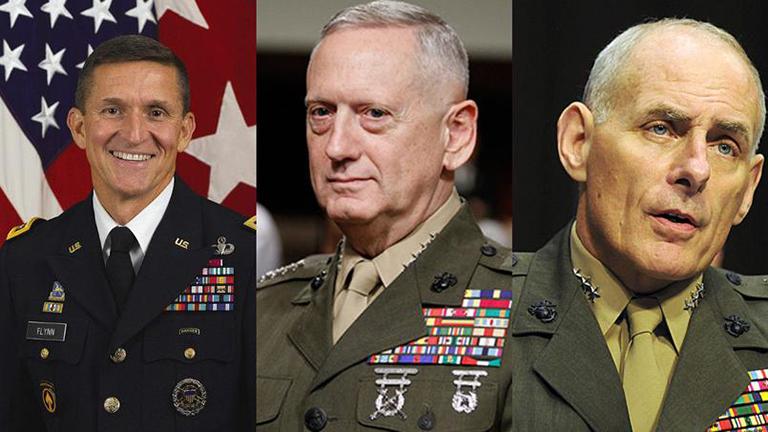 Resultado de imagen para militaristas en gabinete de trump