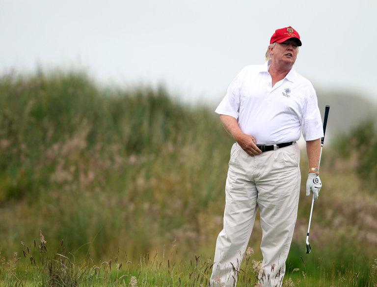 Trump, el verdadero rey del golf