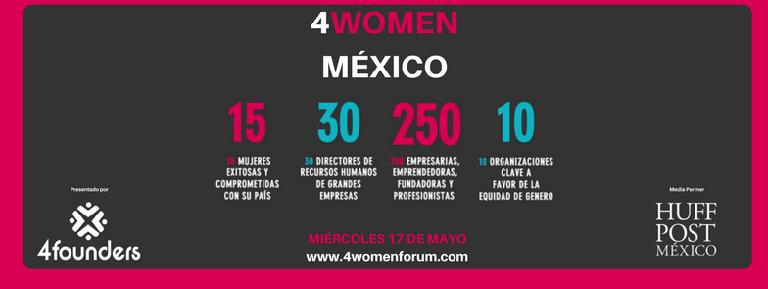 Emprendiendo es la mejor herramienta del empoderamiento femenino: 4Women Forum México