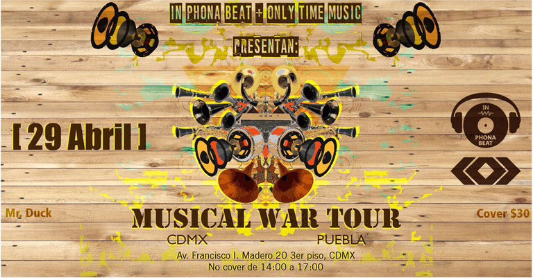 IN-PHONA BEAT+ MUSICAL WAR TOUR