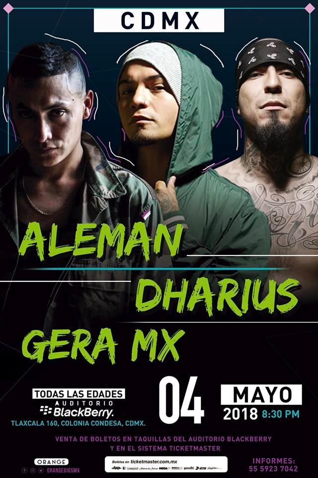 Dharius, Alemán y Gera MX