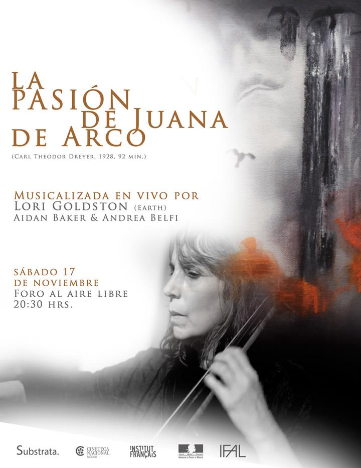 Lori Goldston musicalizará La pasión de Juana de Arco en la Cineteca Nacional