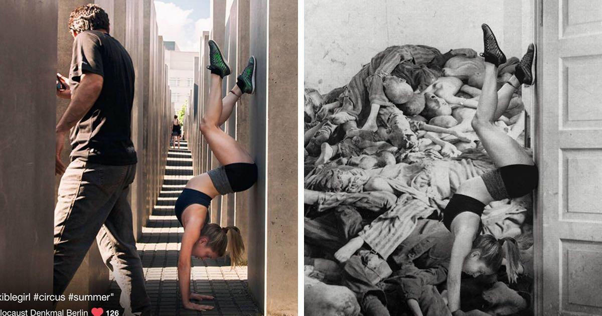 Cruda ofensa fotografiarse en monumentos dedicados a judíos asesinados
