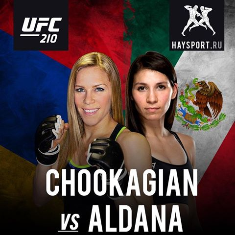 Aldana Vs. Chookagian en UFC 210