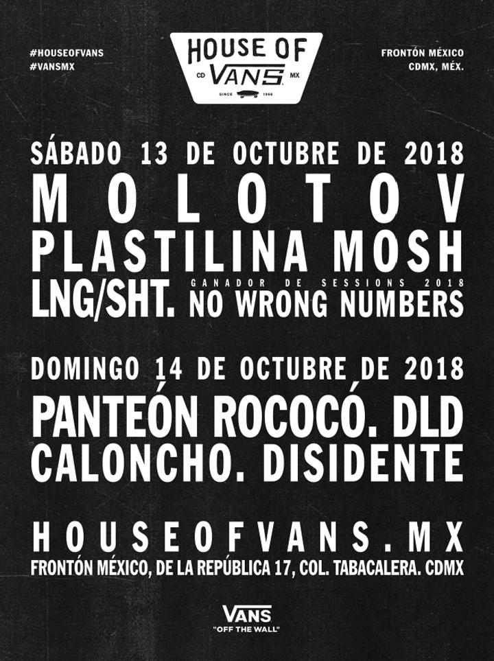 Molotov, invitado especial en House of Vans México 2018